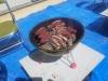 エゾシカ肉を炭火で焼いている所その2