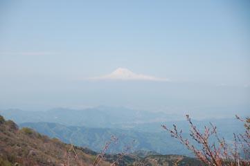 稜線から望む富士山